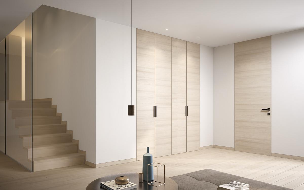 Come Pitturare Le Pareti Di Una Scala Interna porte filo muro personalizzabili: legno, laminato, vetro