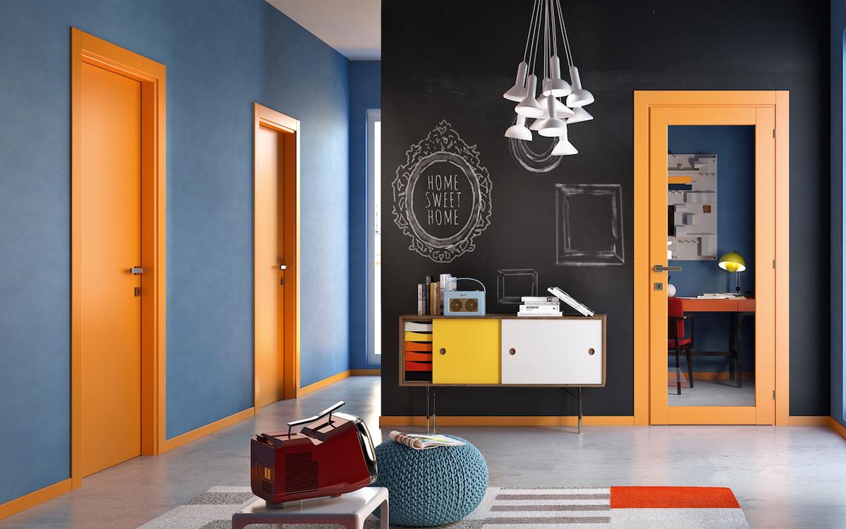 Porte arancioni 1000colours - Gidea