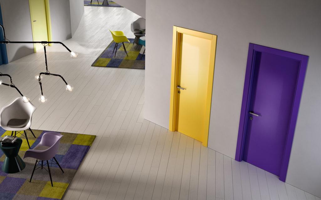 Porte in laminato colorate