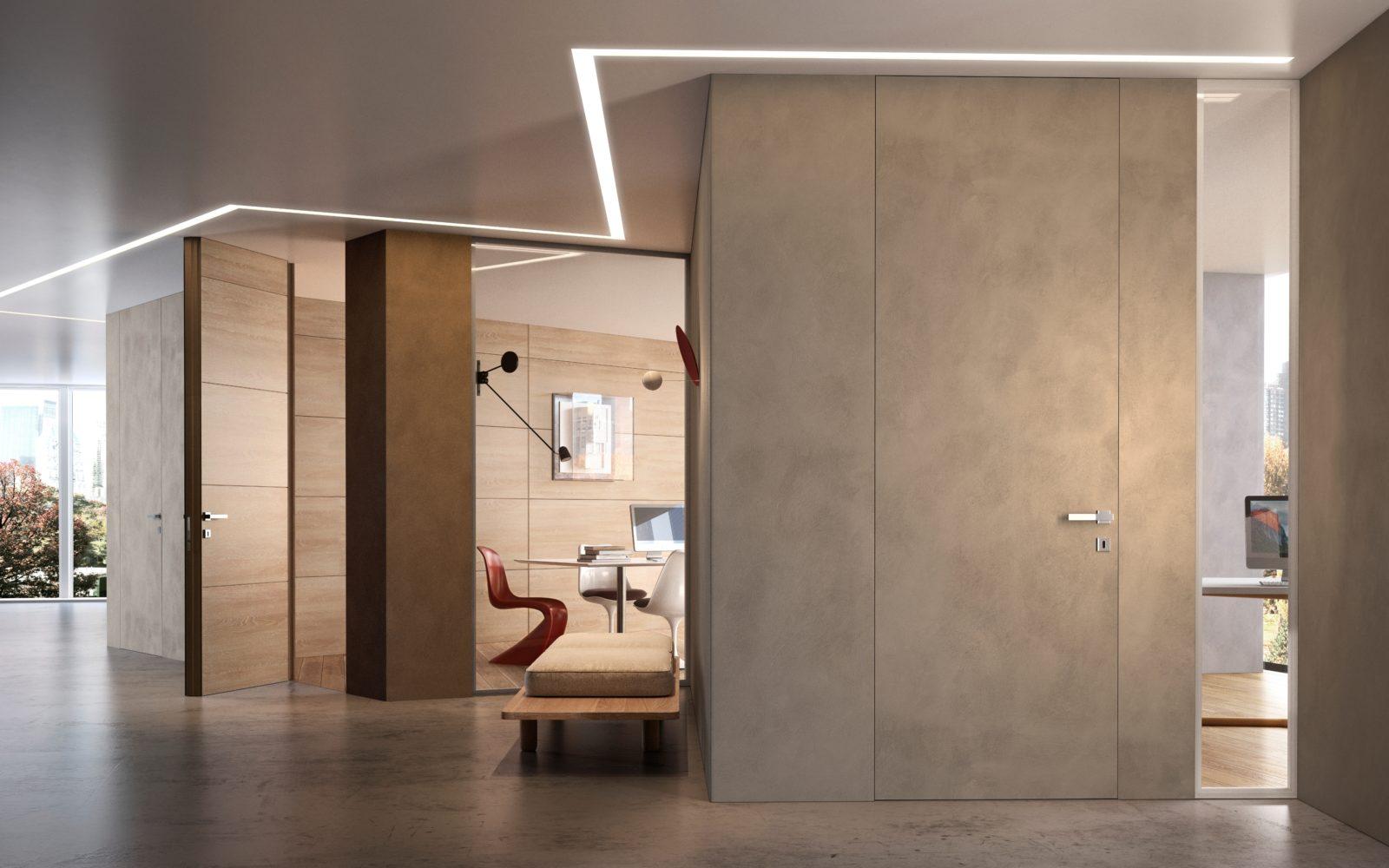 Porte filo muro personalizzabili: legno, laminato, vetro | Garofoli