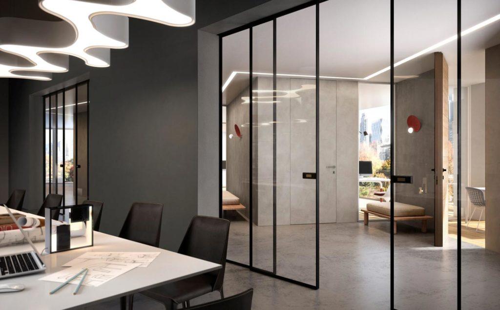 porta_filo-muro-bilato-porte-in-vetro