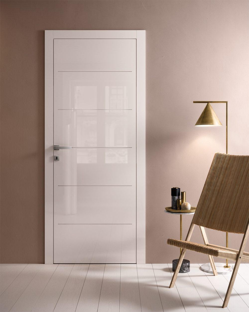 Porta laccata lucida bianca Luxpoema - Gidea
