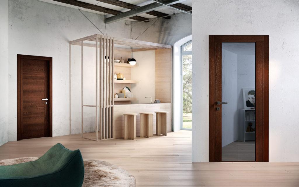 Porte in legno e vetro collezione Mirawood