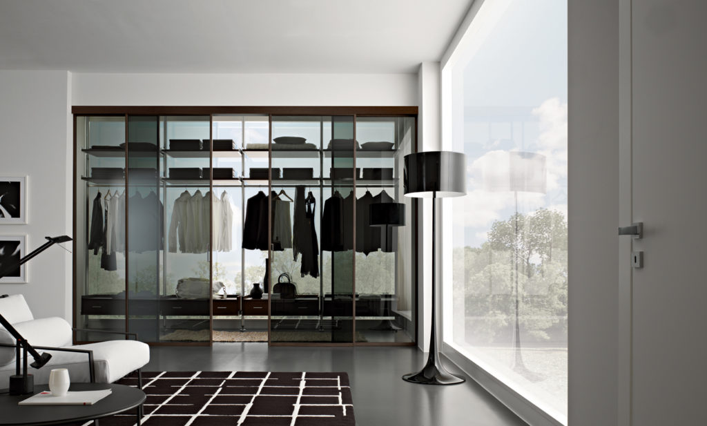 cabina armadio in vetro Gidea