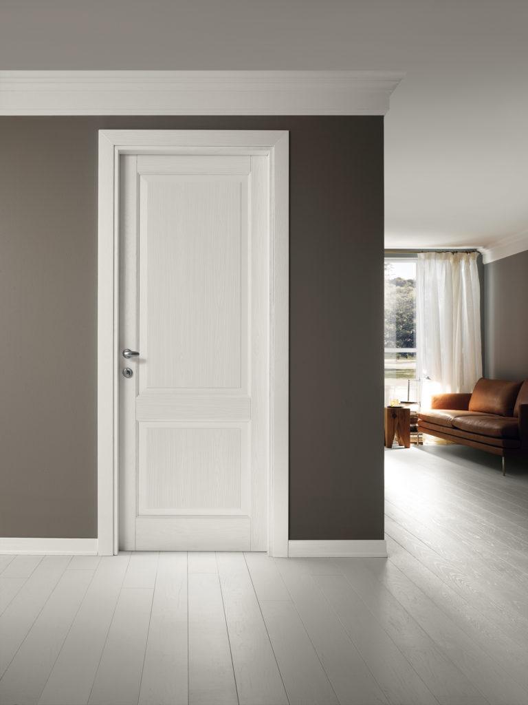 porta in legno bianca Classica