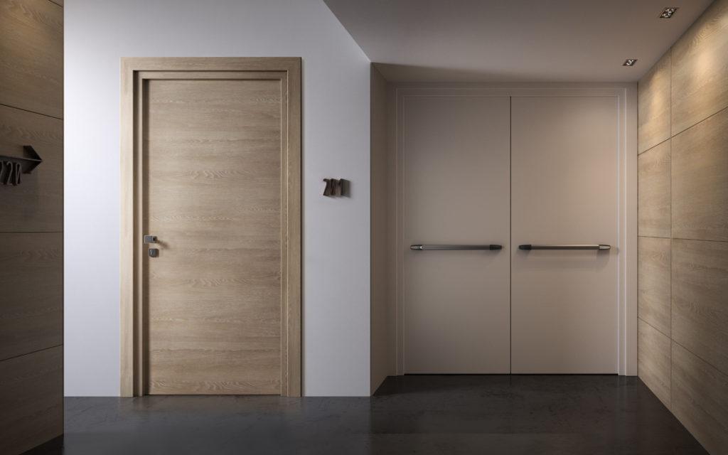 Porte tagliafuoco in legno