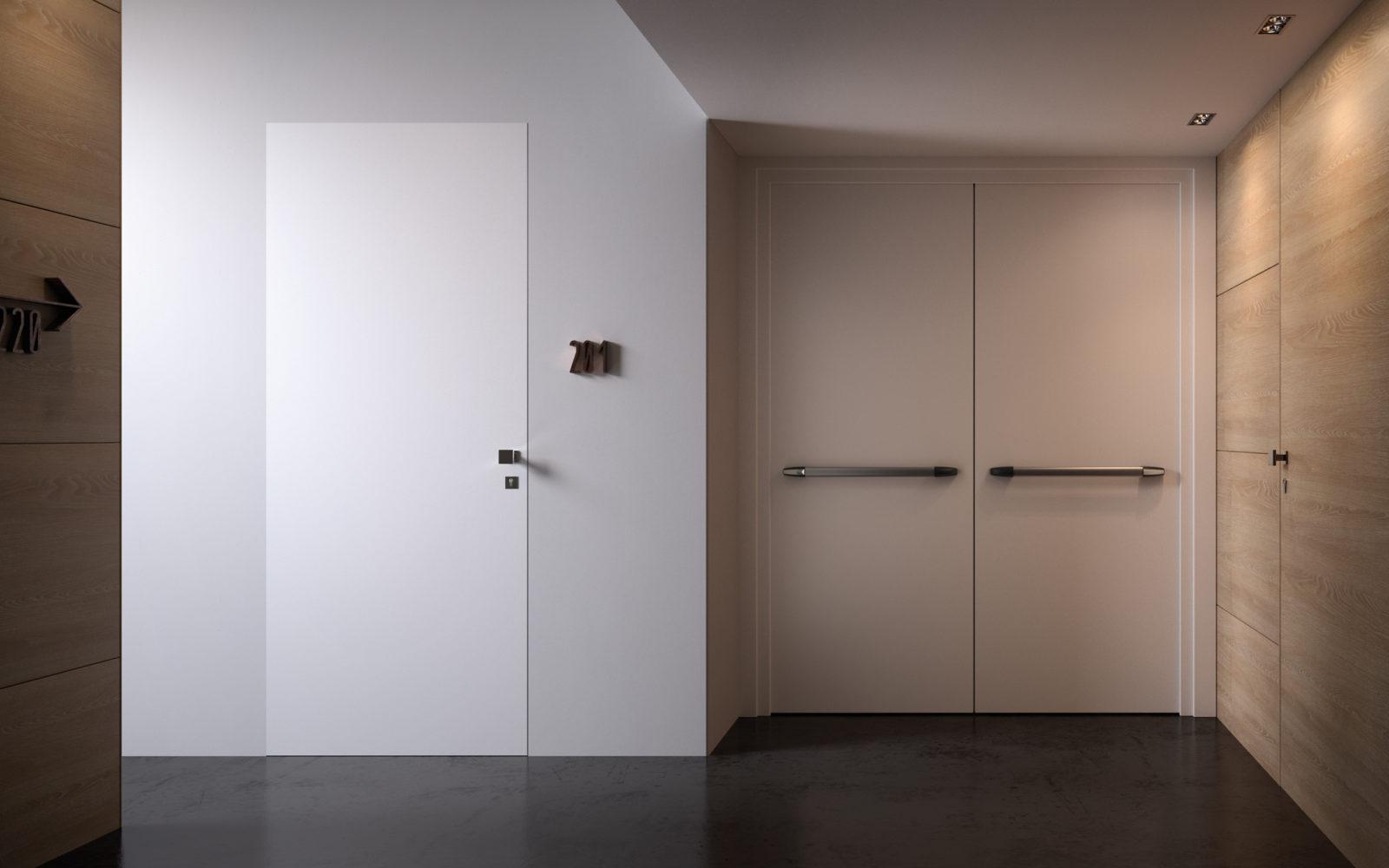 Porta tagliafuoco REI120 in legno bianca - Garofoli