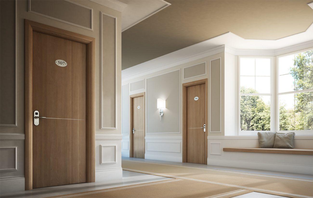 Porte tagliafuoco per hotel in legno - Garofoli