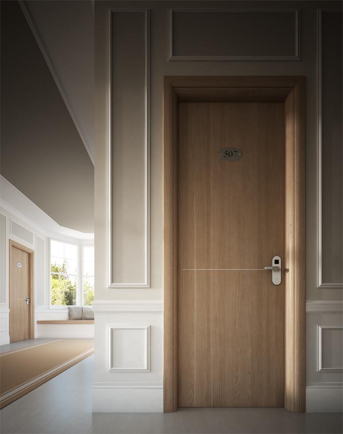 Porta tagliafuoco in legno Rei30 - Garofoli