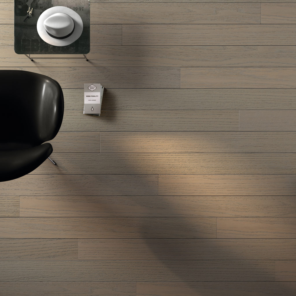 Pavimento in legno grigio