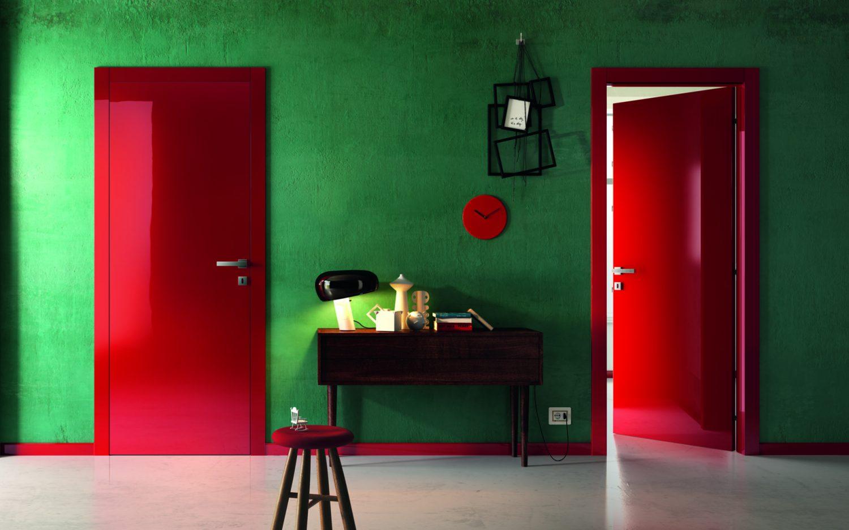 Porte laccate rosse smart - Gidea