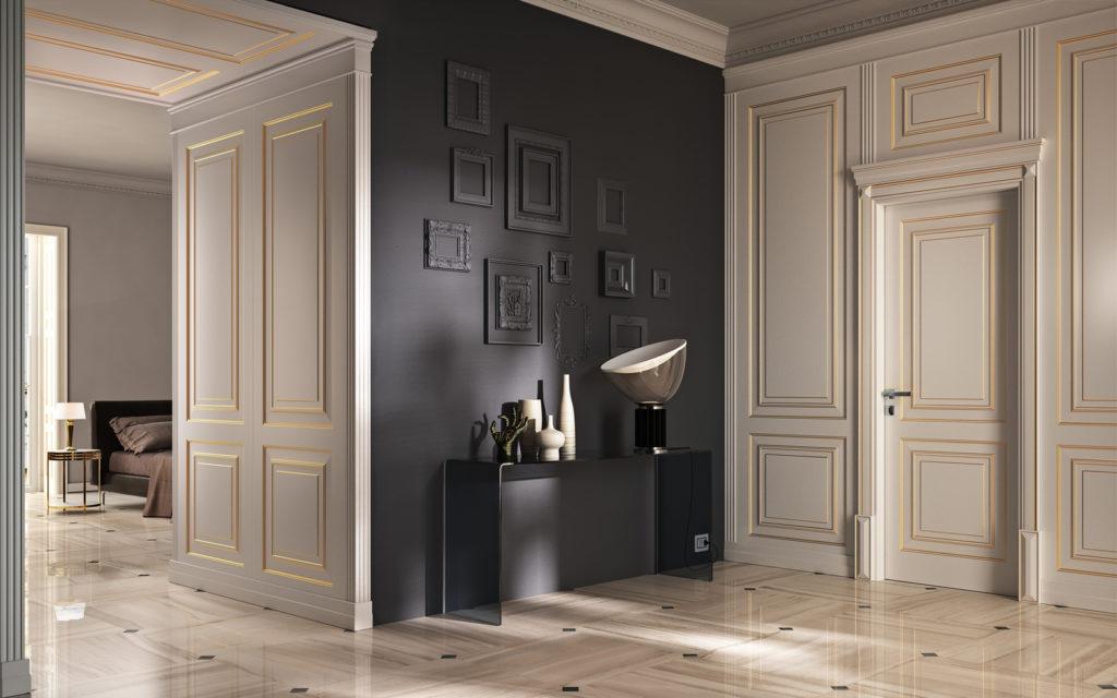 porta bugnata in stile classico