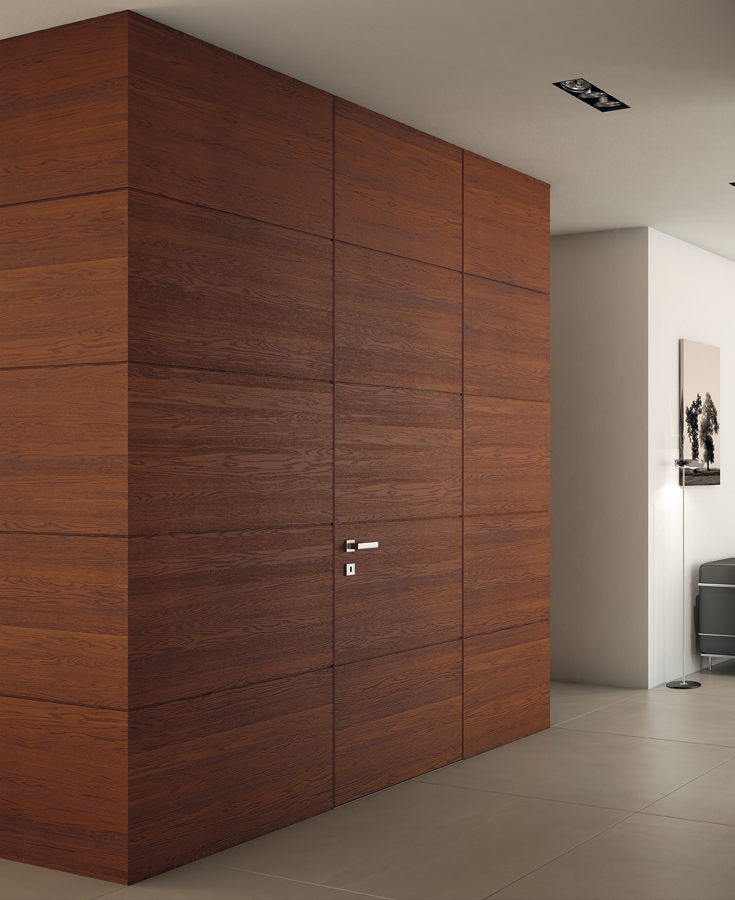 porte filo muro personalizzabili legno laminato vetro garofoli. Black Bedroom Furniture Sets. Home Design Ideas