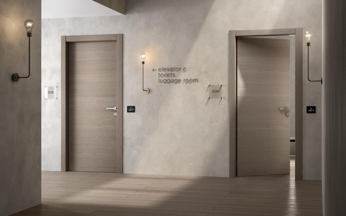 Porte tagliafuoco per hotel rovere creta - Garofoli