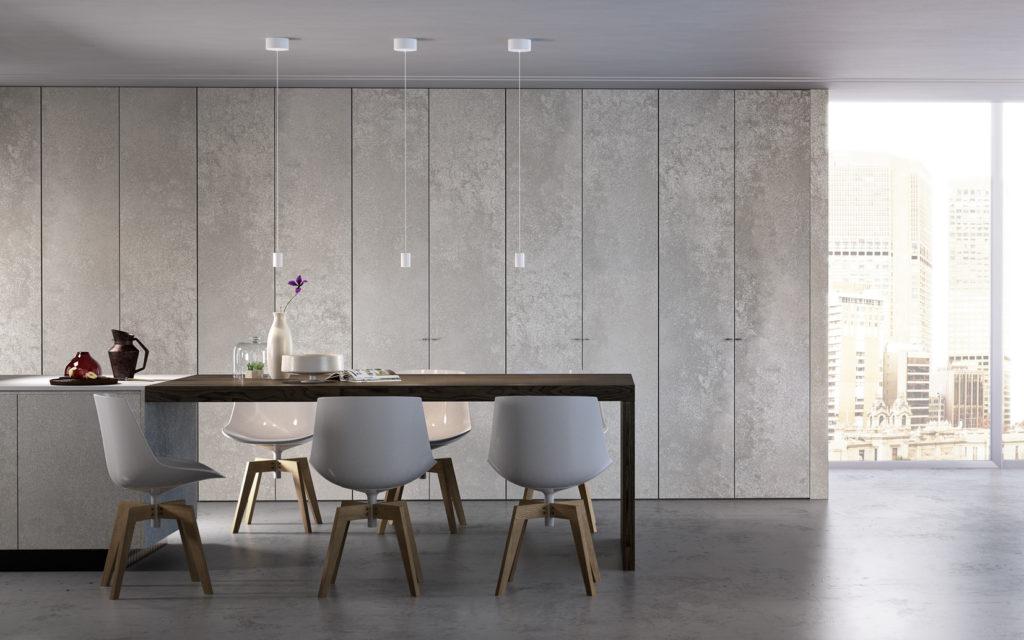 Armadio a muro da cucina versione filo muro