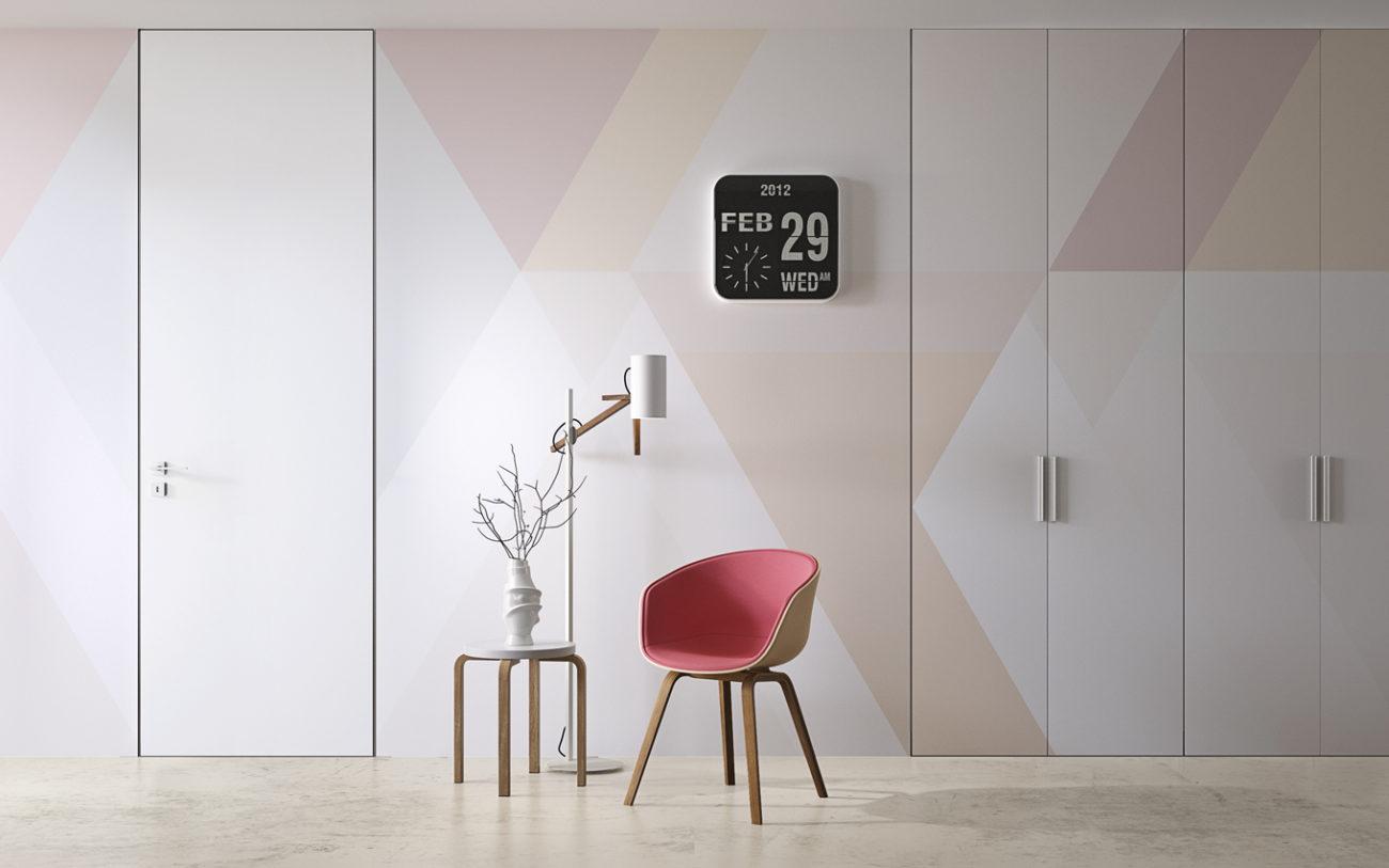 Armadio A Muro Design personalizza l'armadio a muro con ante tinteggiabili o