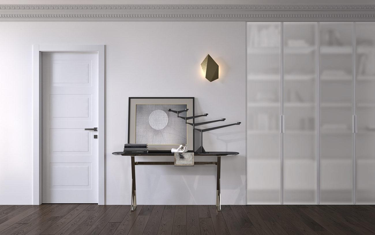 Porta Miraquadra laccata bianca con armadio miria - Garofoli