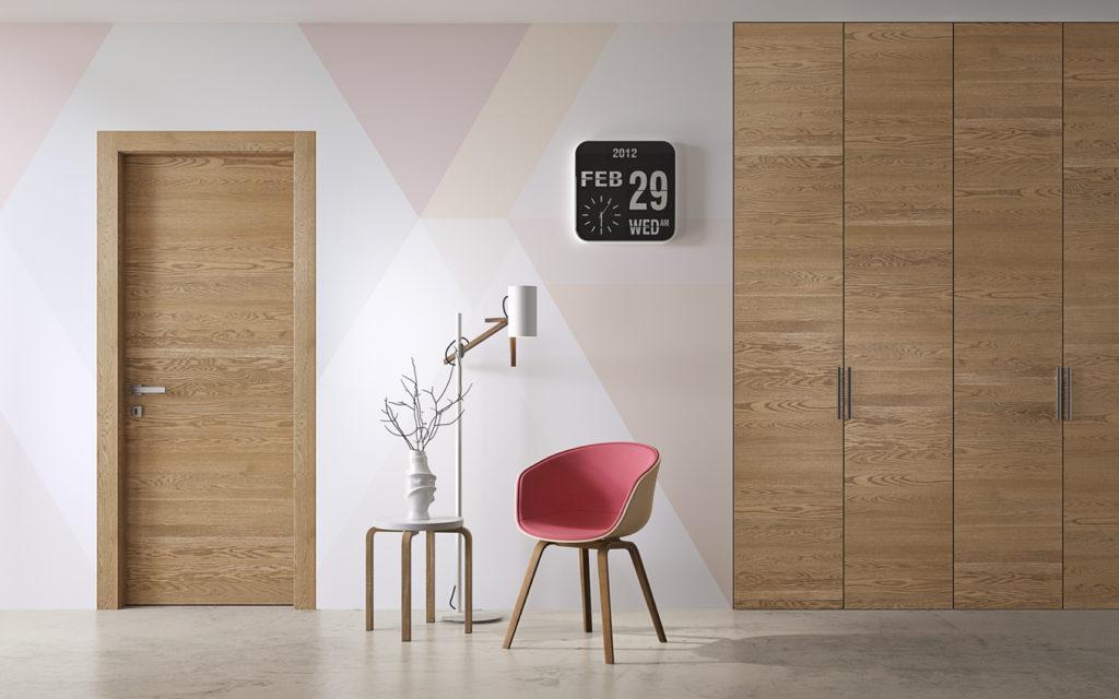 Porta in legno gabilia con armadio