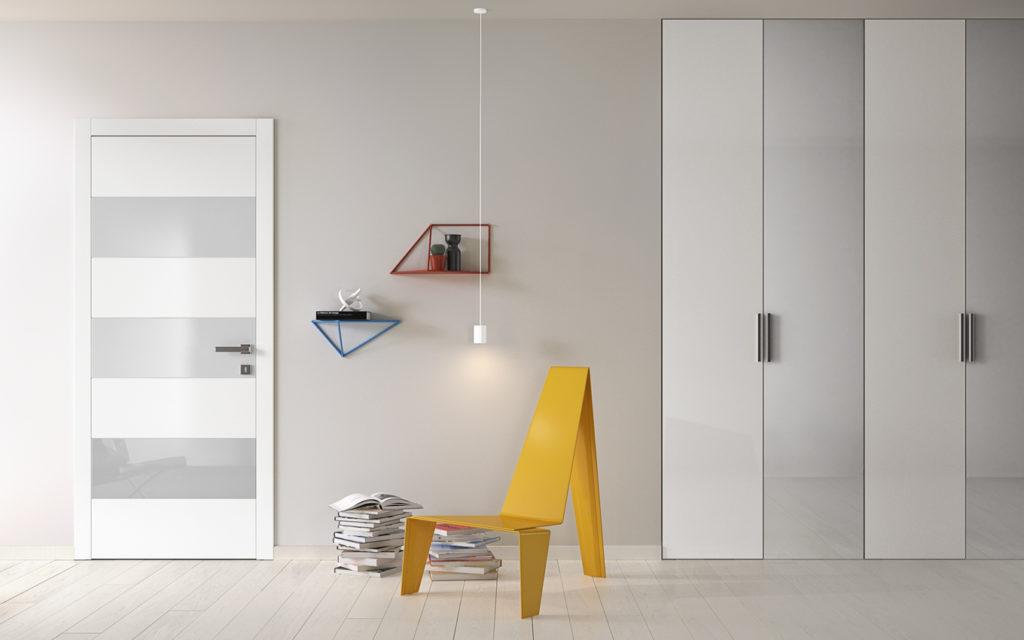 porta Bisystem e armadio miria