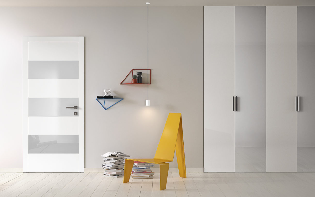 Porta Bisystem e armadio miria - Gidea