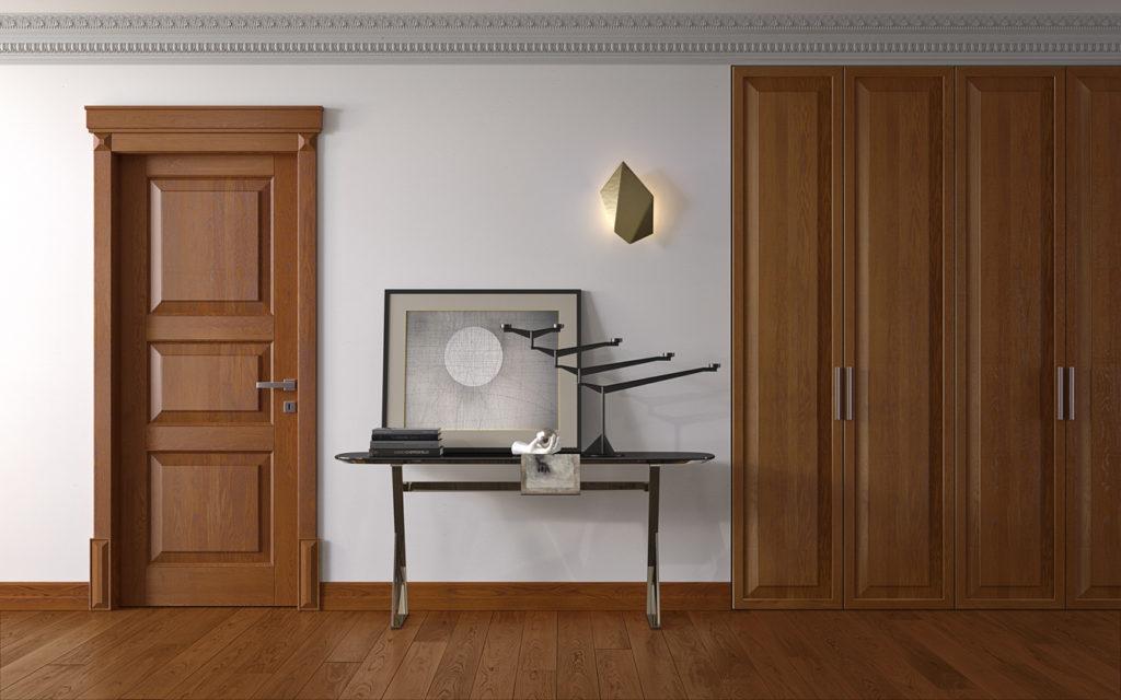 Porta classica in legno armadio miria standard