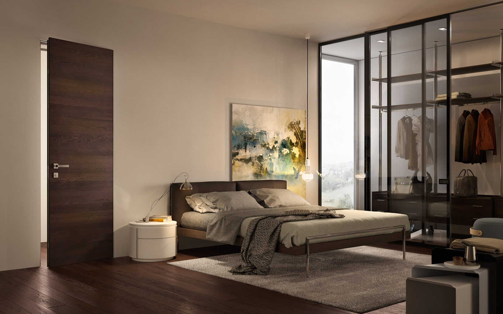Sovrana villa moderna camera da letto - Garofoli