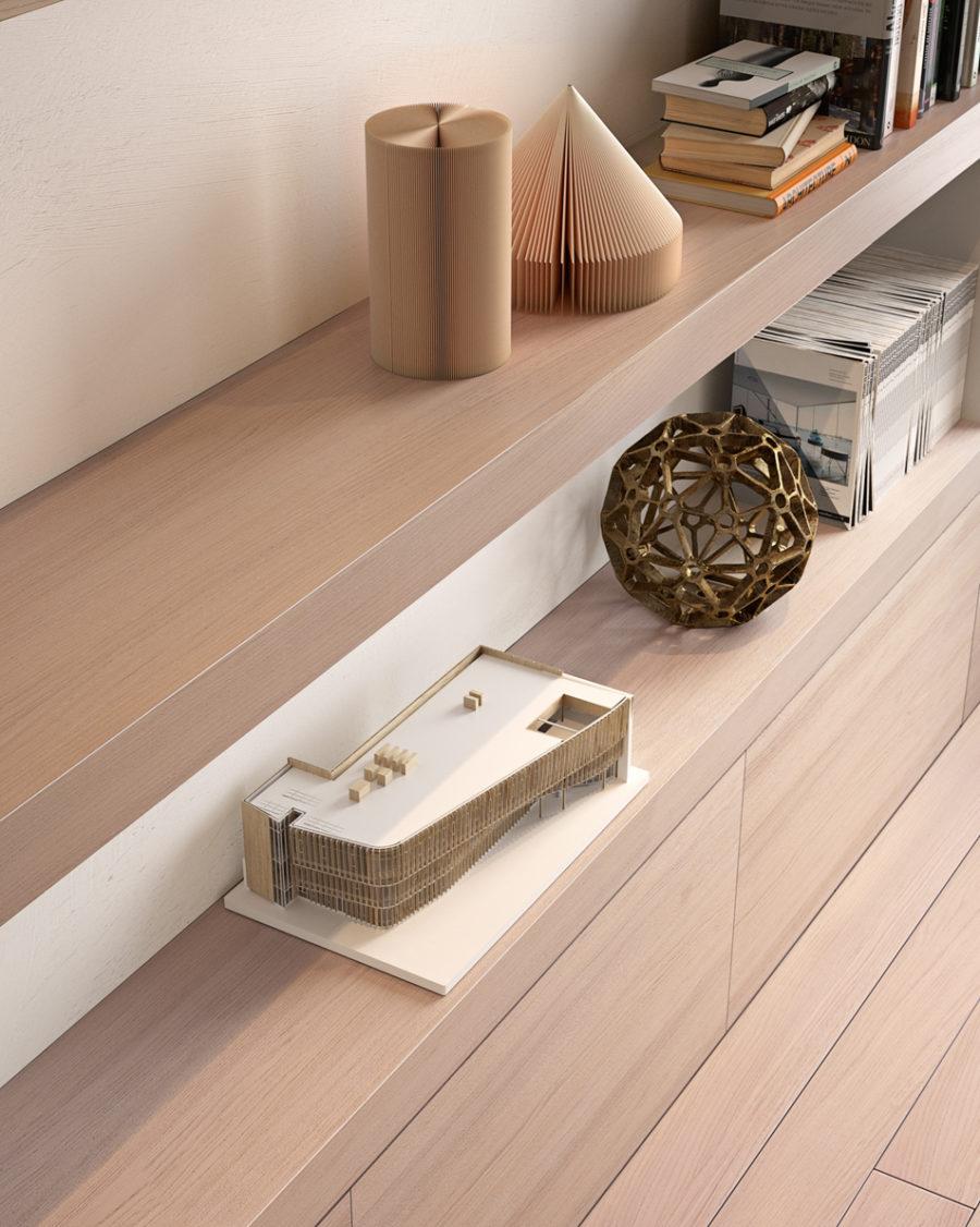 Rivestimento in legno chiaro e parquet - Gidea