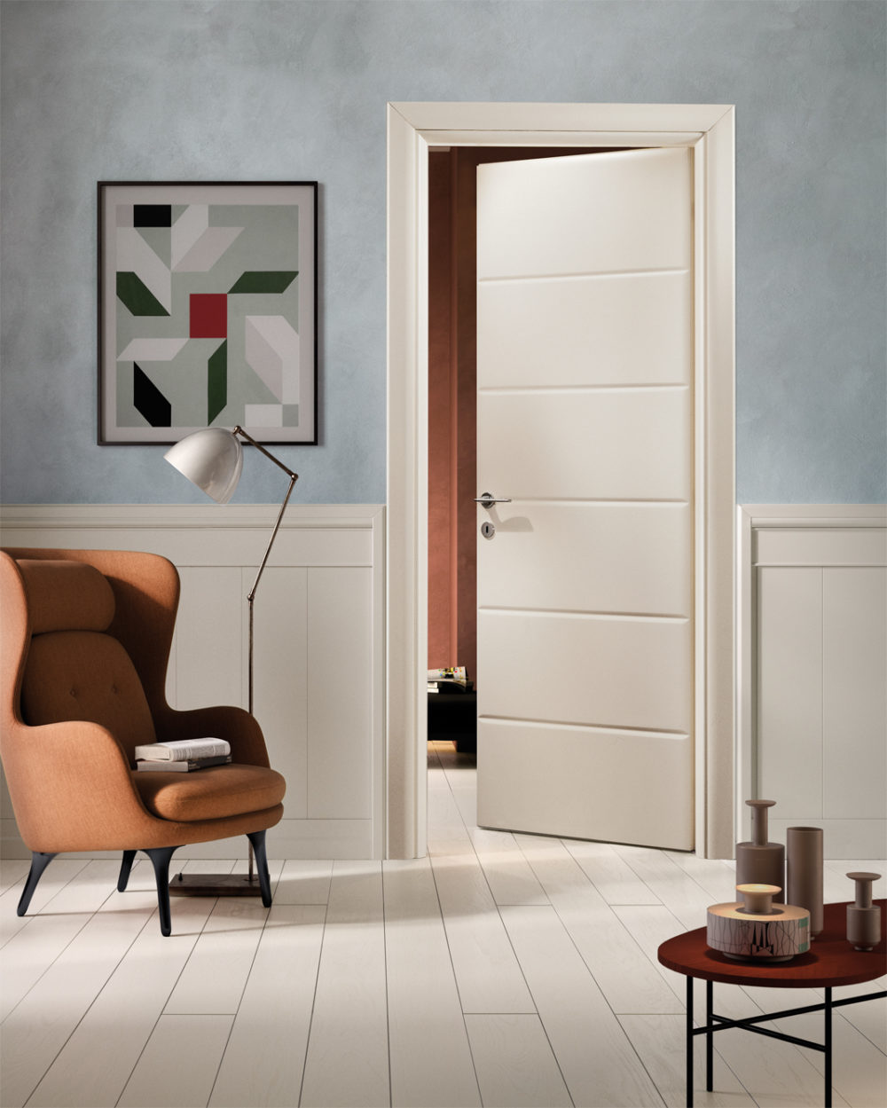 Boiserie In Legno Prezzi solid wood doors with rustic finishes: io collection | garofoli