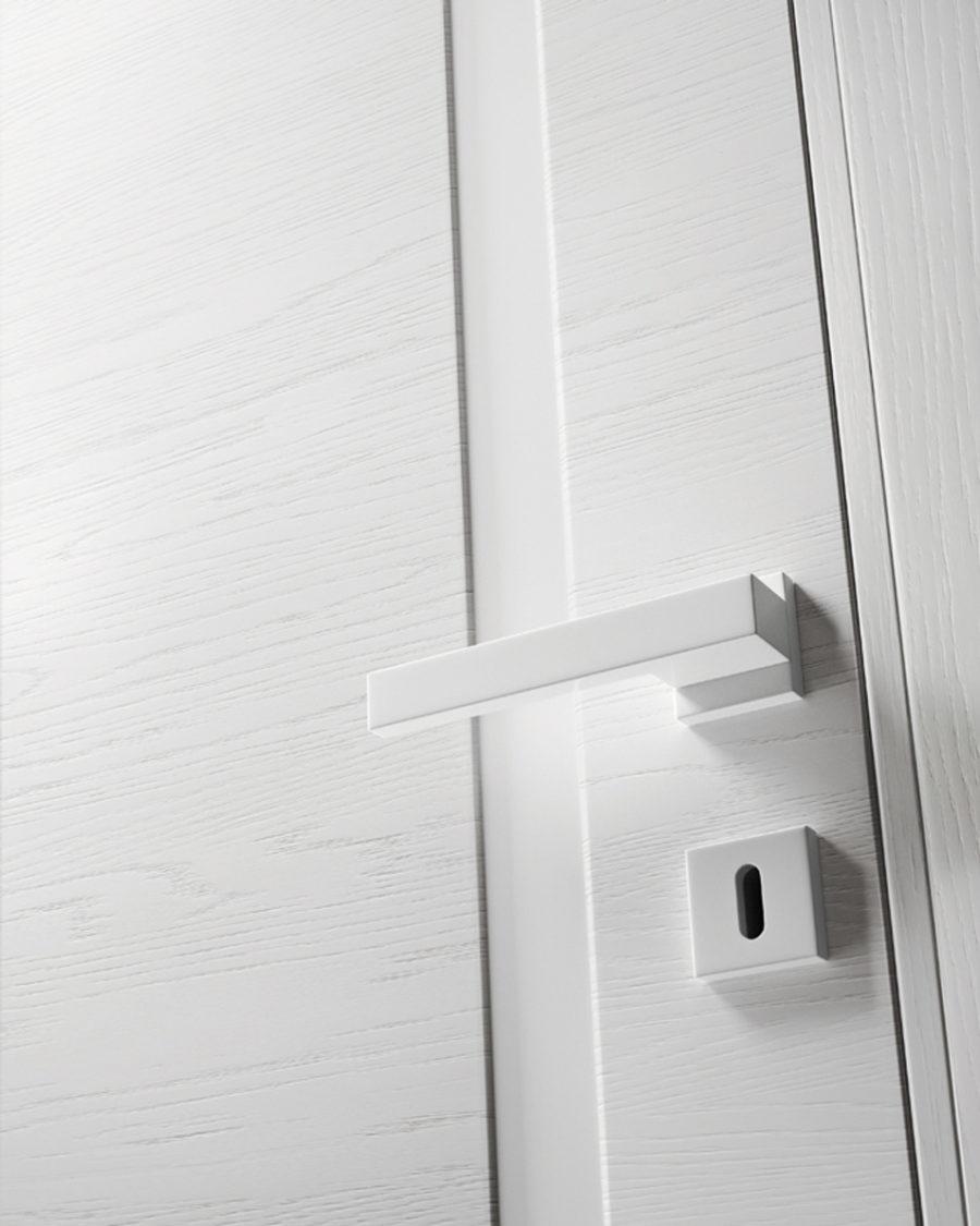 Porta in legno bianca mirawood - Garofoli