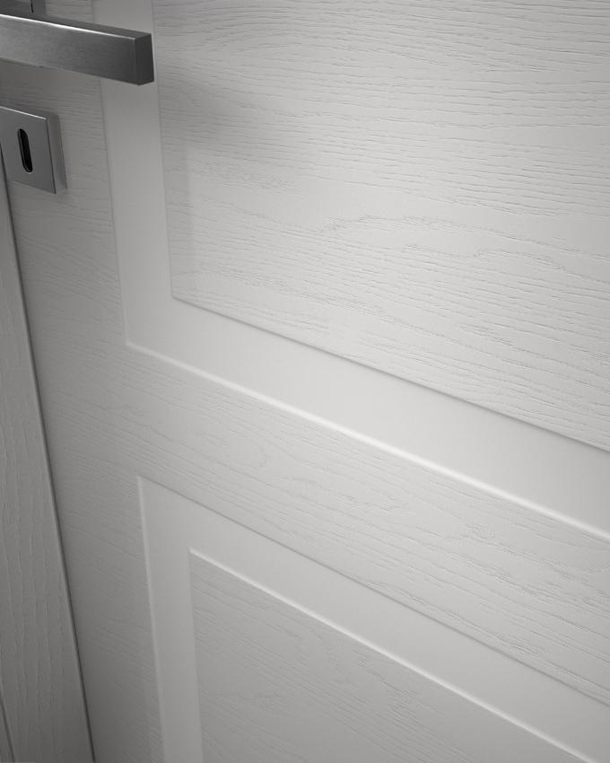 Porta da interni finitura laccata a poro aperto
