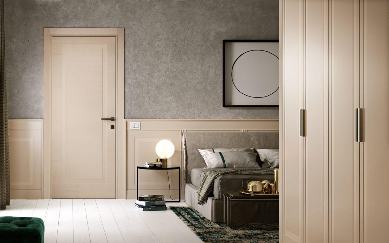 Camera da letto con Porta laccata pantografata - Garofoli