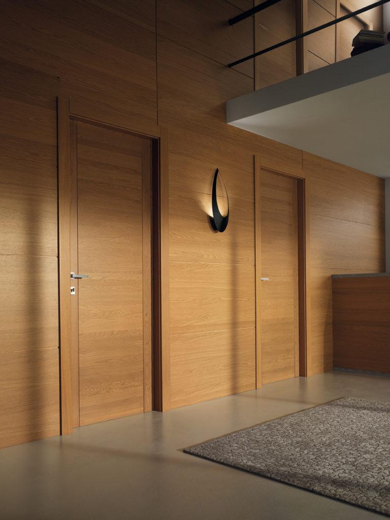 porte in legno garofoli con boiserie