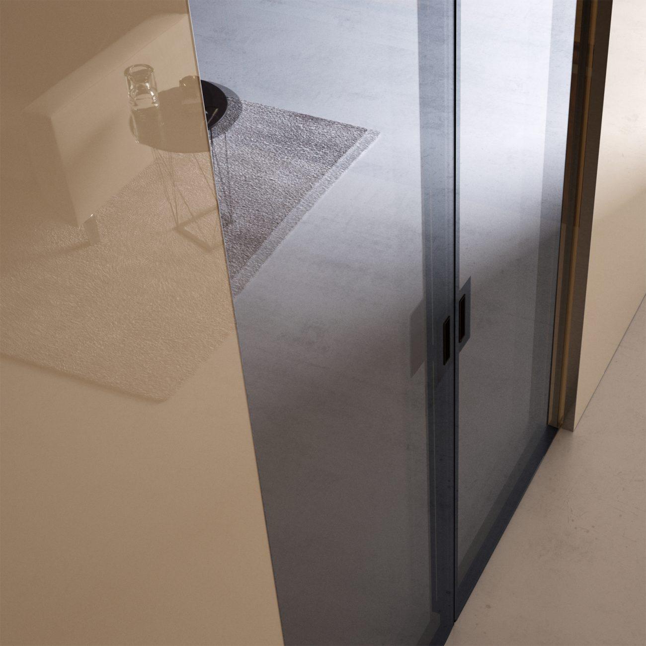 Porta scorrevole in vetro bisystem - Garofoli