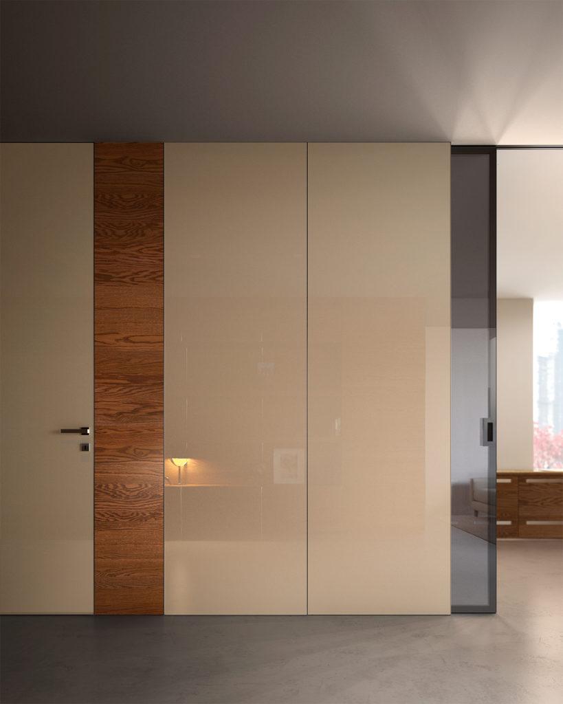 Porta laccata e porta in vetro collezione Bisystem