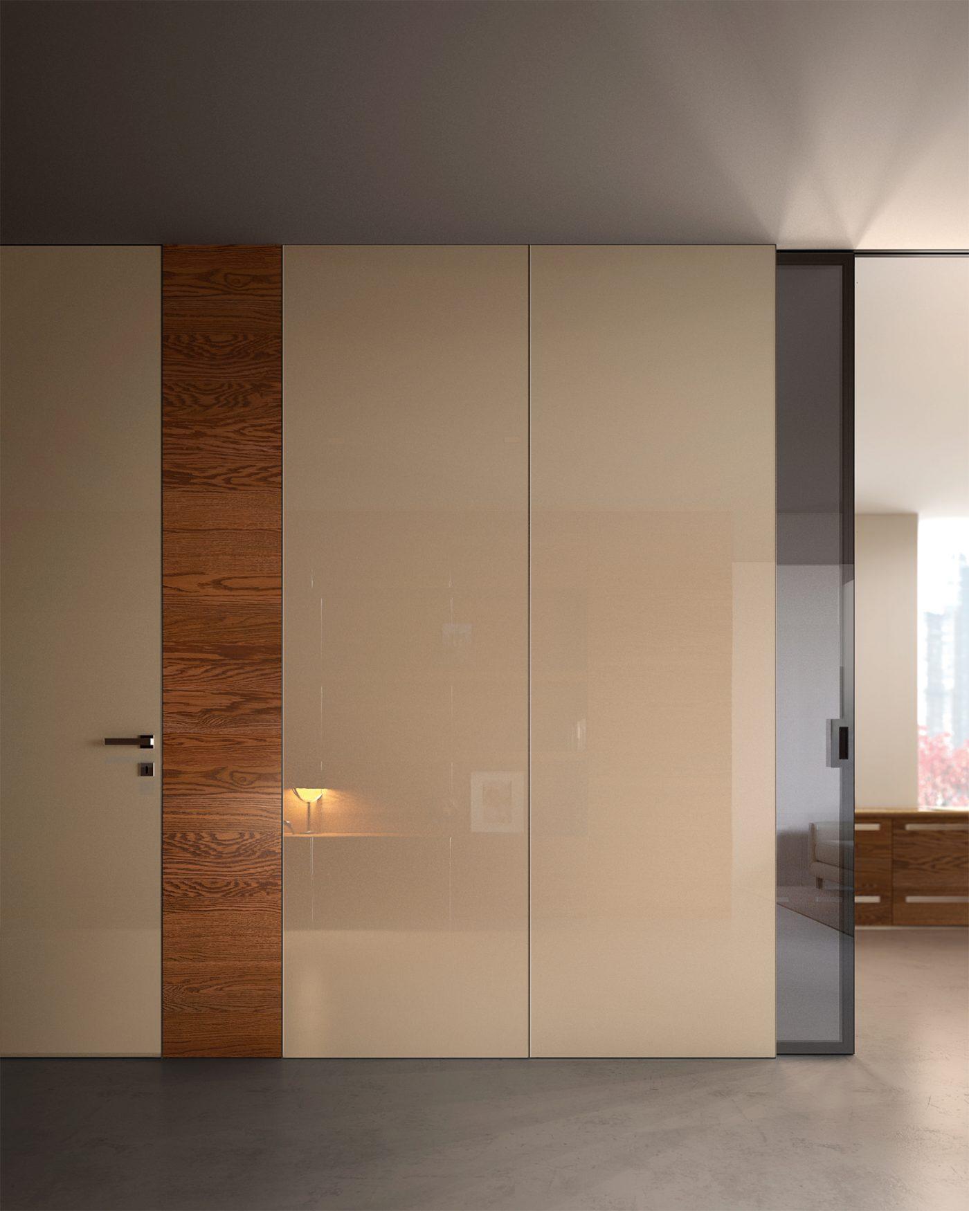 Porta laccata e porta in vetro collezione Bisystem - Garofoli