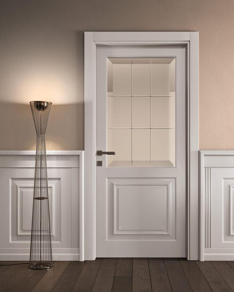 Porta laccata bianca classica