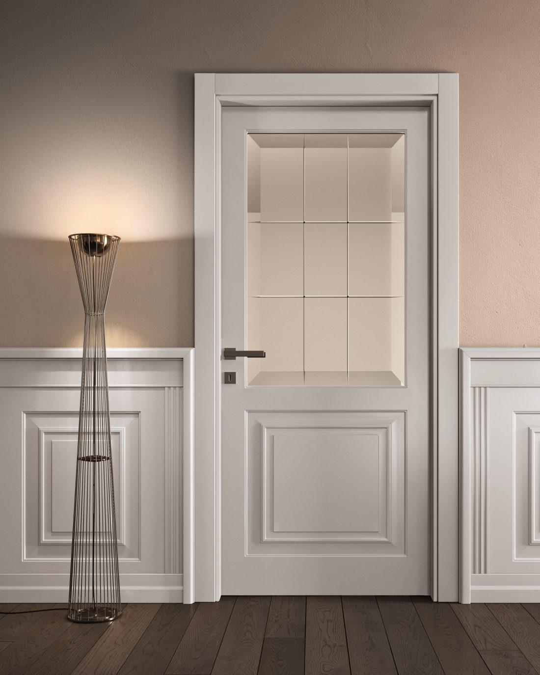 Porta laccata bianca classica - Garofoli