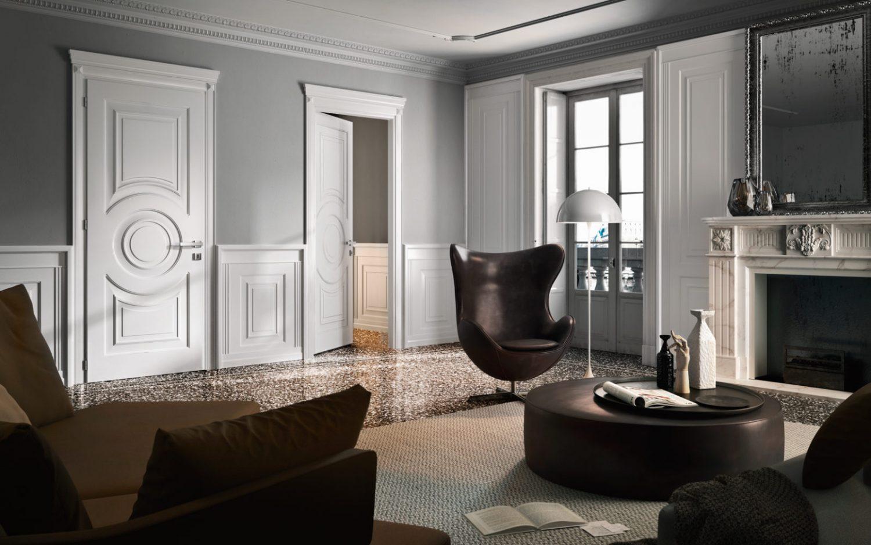 Porte laccate bianche pantografate - Garofoli