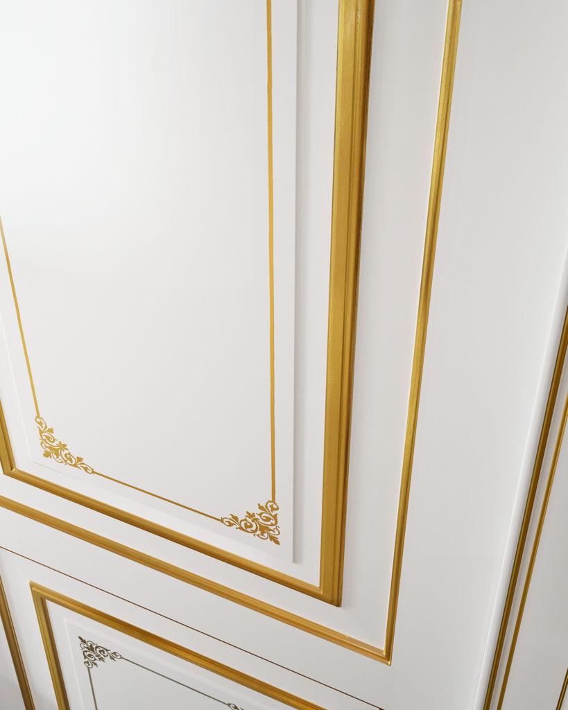 Porta laccata bianca stile classico