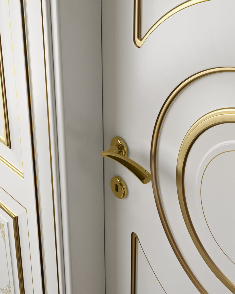 Porta laccata foglia oro