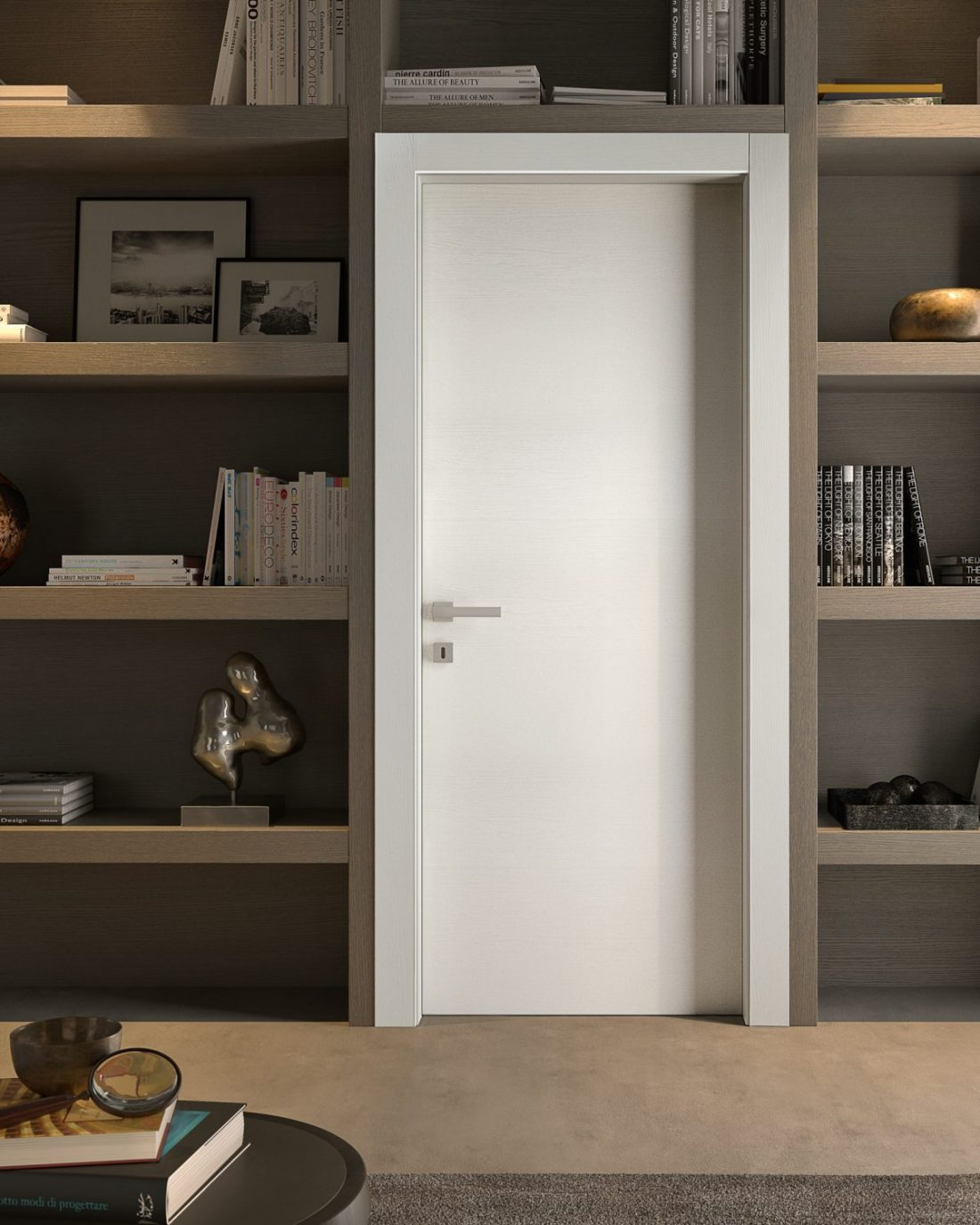 Porta laccata bianca liscia moderna - Garofoli