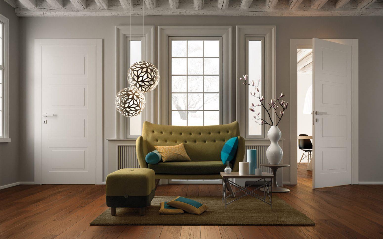 Modern Classic Interior Doors Miraquadra Collection