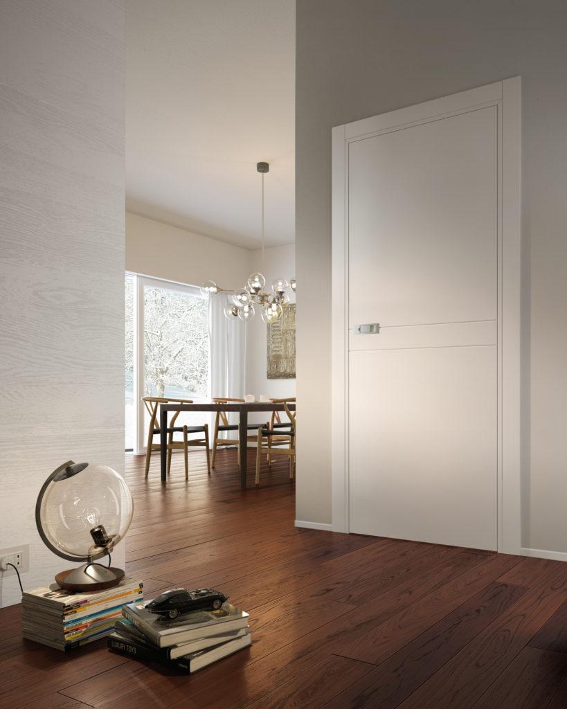 miraquadra porte laccate bianche con maniglia moderna garofoli