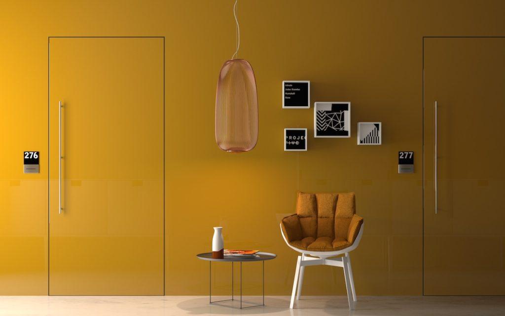 porta filo muro garofoli gialla