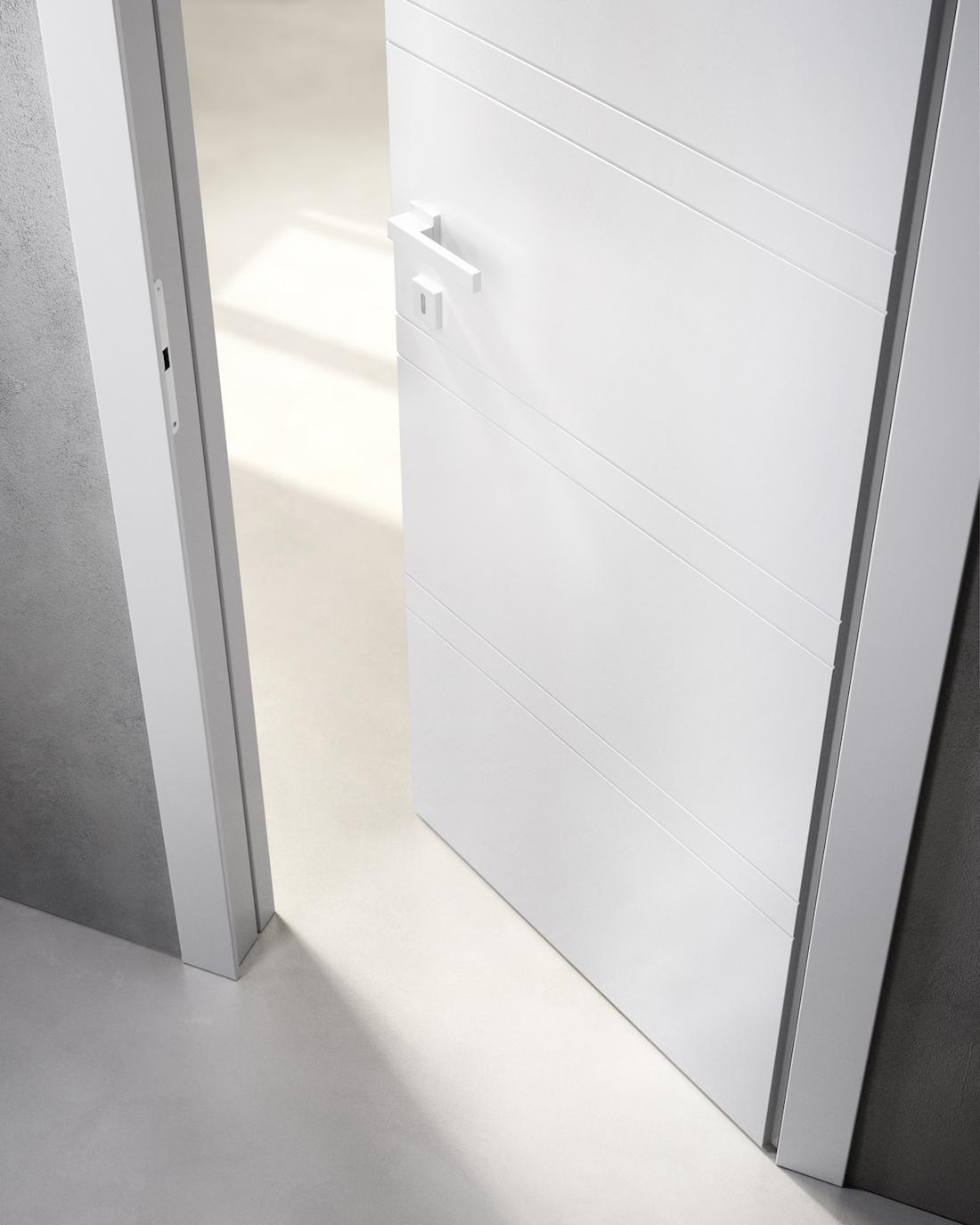 Porte in legno massiccio a filo muro linea poemia garofoli - Porte filo muro garofoli ...