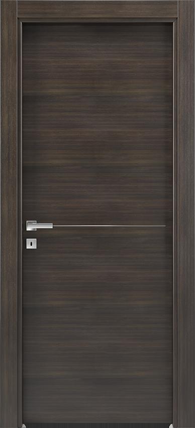Porte intérieure battante BRIO 1L1F, Xonda - Chene anthracite - Gidea