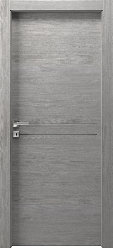 Interior swinging door DUILIA 1L2F SF, Avio - Grey elm - Gidea
