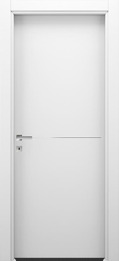 Porte intérieure battante BRIO 1L1F, Xonda - Blanc - Gidea