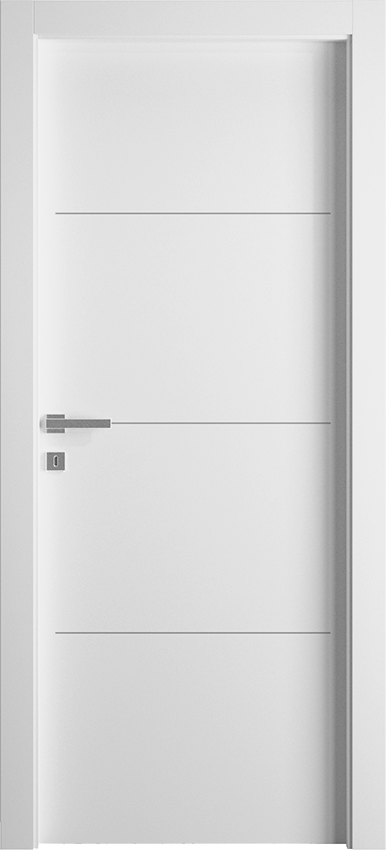Interior swinging door TRINIA 1L3F SF, Avio - White - Gidea