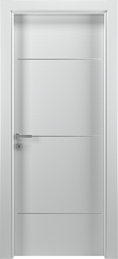 Interior swinging door BRIO 1L3F, Xonda - White lined - Gidea